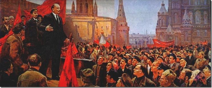 выступление В.И.Ленина на красной площади