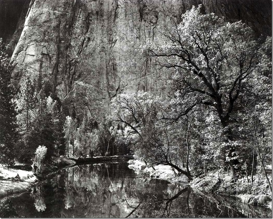 merced_river   Ansel Adams,photo,sahallin,Ансел Адамс,фото
