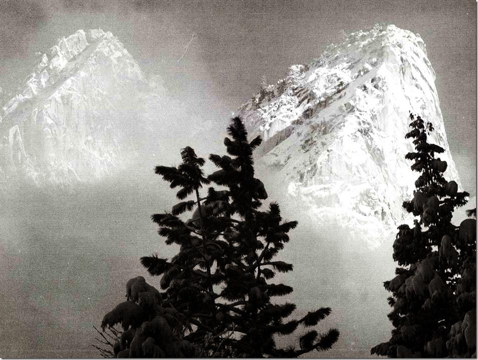 eagle_peak_and_middle_brother   Ansel Adams,photo,sahallin,Ансел Адамс,фото