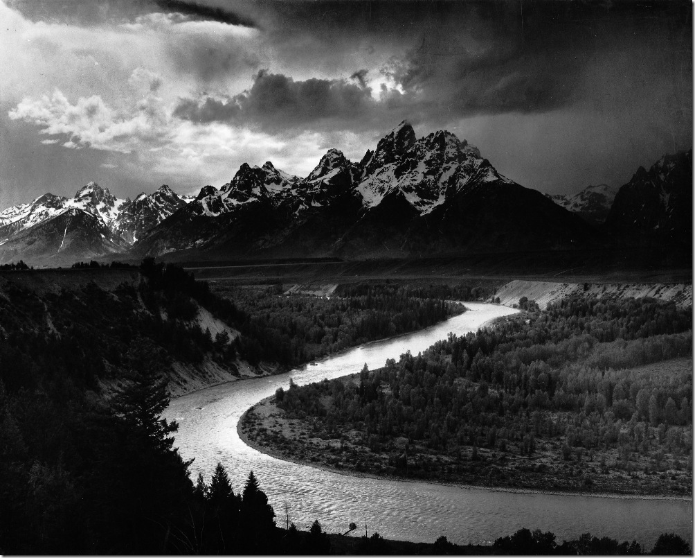 tetons-snake-river  Ansel Adams,photo,sahallin,Ансел Адамс,фото
