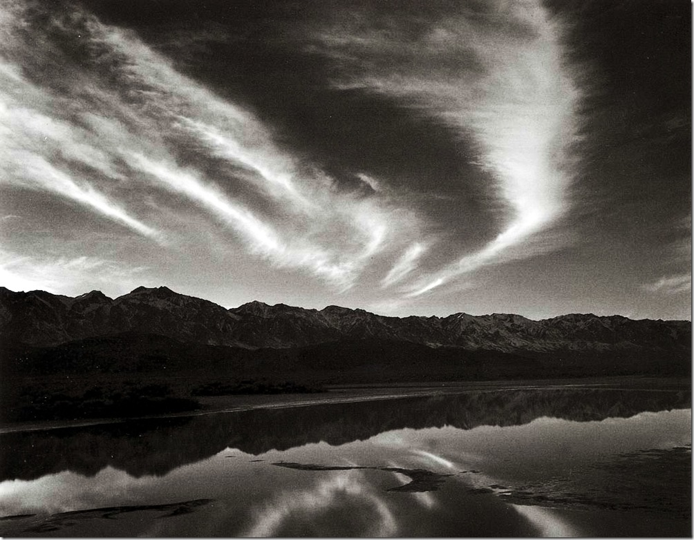 evening_clouds_and_pool  Ansel Adams,photo,sahallin,Ансел Адамс,фото