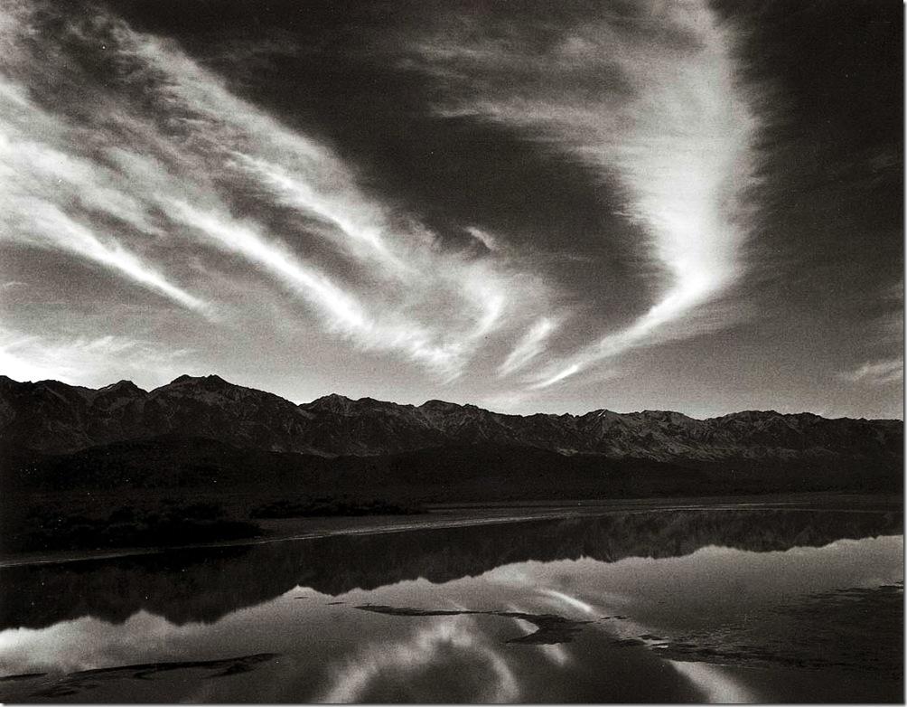 evening_clouds_and_pool  Ansel Adams,photo,sahallin,Ансел Адамс,фото