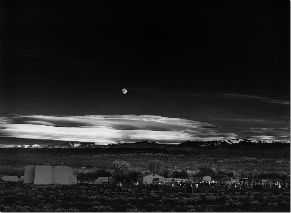 ansel-adams-moonrise-hernandez-new-mexico-1941  Ansel Adams,photo,sahallin,Ансел Адамс,фото