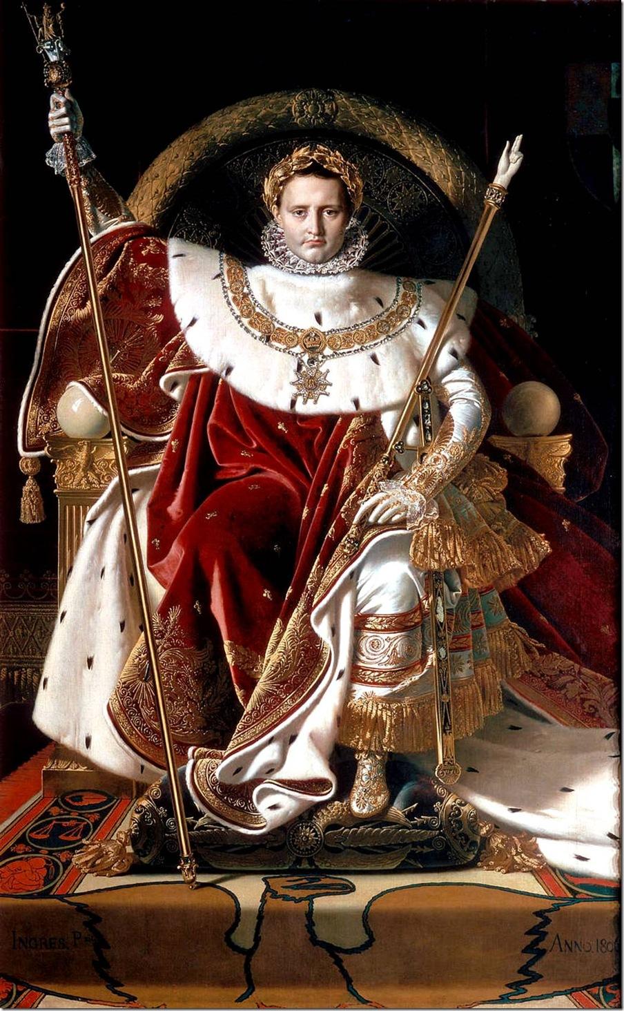 Наполеон на императорском троне 1806Жан Огюст Доминик Энгр – Jean Auguste Dominique Ingres,sahallin