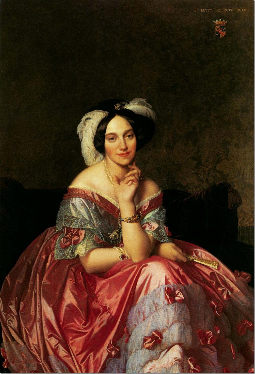 baronne_james_de_rothschild,_nee_betty_von_rothschild 1848,Жан Огюст Доминик Энгр – Jean Auguste Dominique Ingres,sahallin