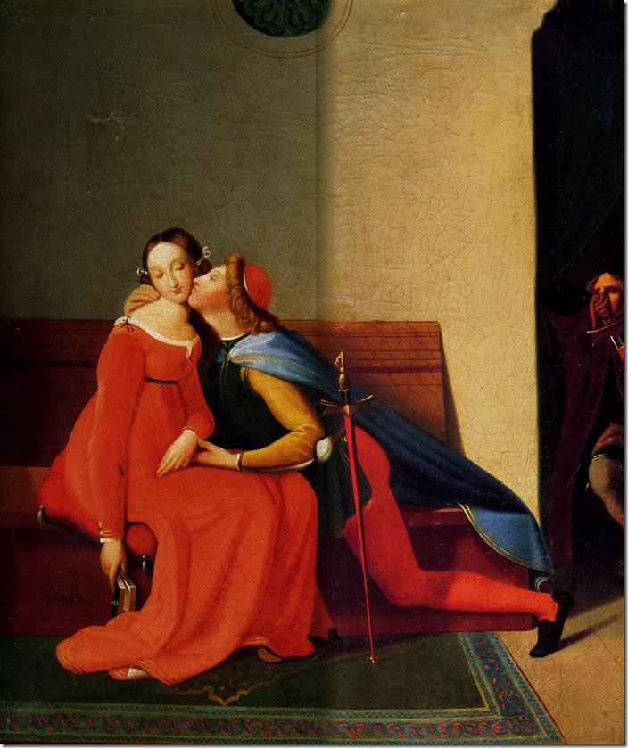 Paolo et Francesca 1844-1848-Жан Огюст Доминик Энгр – Jean Auguste Dominique Ingres,sahallin