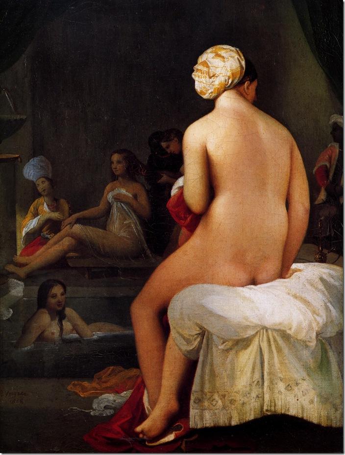 Interieur de Harem 1828-Жан Огюст Доминик Энгр – Jean Auguste Dominique Ingres,sahallin