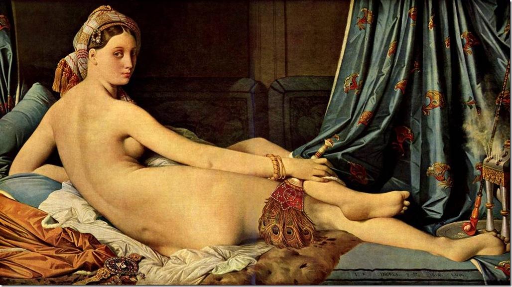 Большая одалиска 1814 Жан Огюст Доминик Энгр – Jean Auguste Dominique Ingres,sahallin