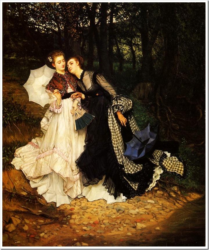 the_confidence-1867 Джеймс Тиссо,художник,картины,живопись,Англия,Франция,James Tissot,artist,pictures,painting,England,France,sahallin