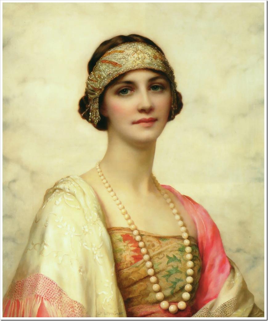An_Elegant_Beauty, Изящная красота, Уильям Кларк Уонтнер, William Clarke Wontner,sahallin,pictures,painting,живопись,картины