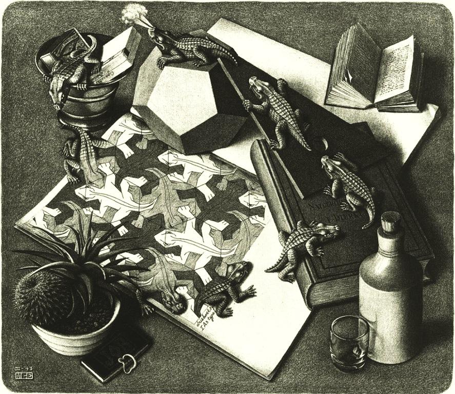 Reptiles,Морис Корнелис Эшер ,Maurits Cornelis Escher,гравюра,художник,engraving,artist,holland,