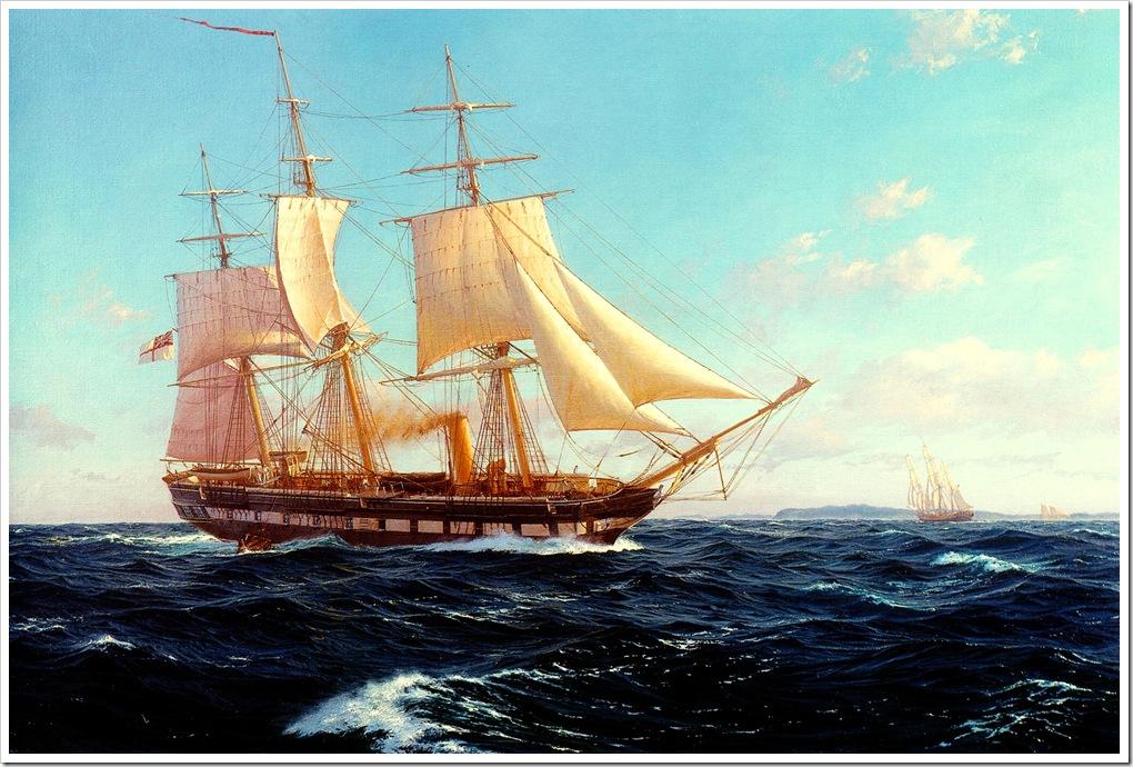 Dews, J Steven   HMS Challenger off Bermuda JStevenDews