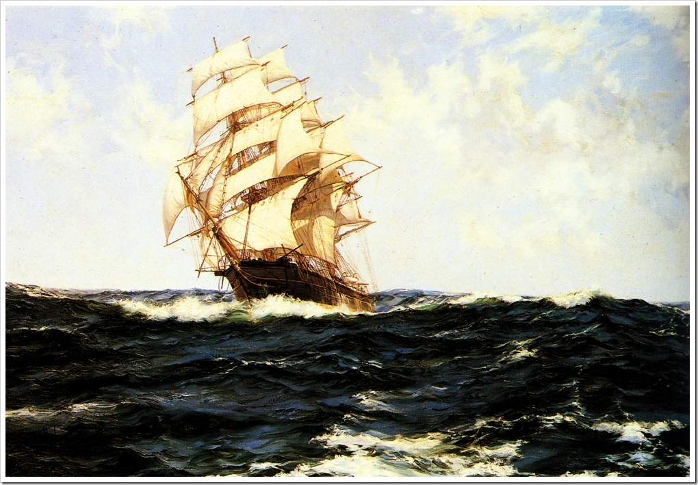Montague Dawson (1895-1973)  pacific_rollers