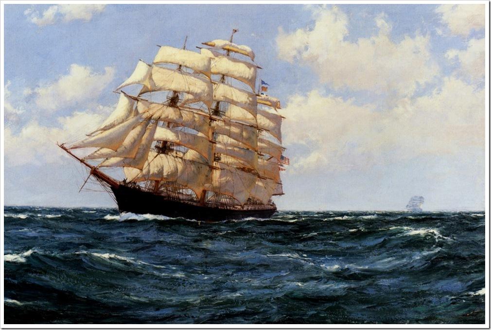 Montague Dawson (1895-1973)  under_sail