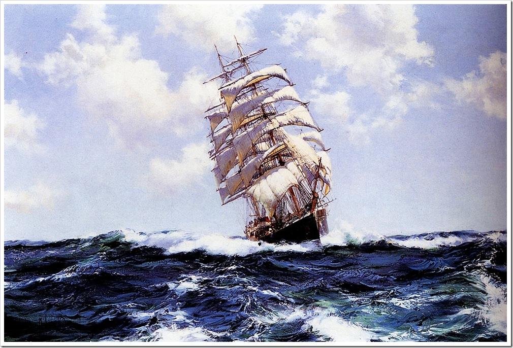 Montague Dawson (1895-1973)  rolling_seas_-_eastern_monarch-