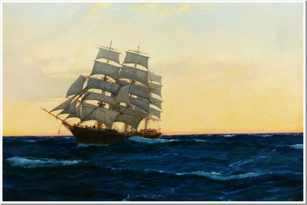 Dawson_Montague_Sunset_at_Sea