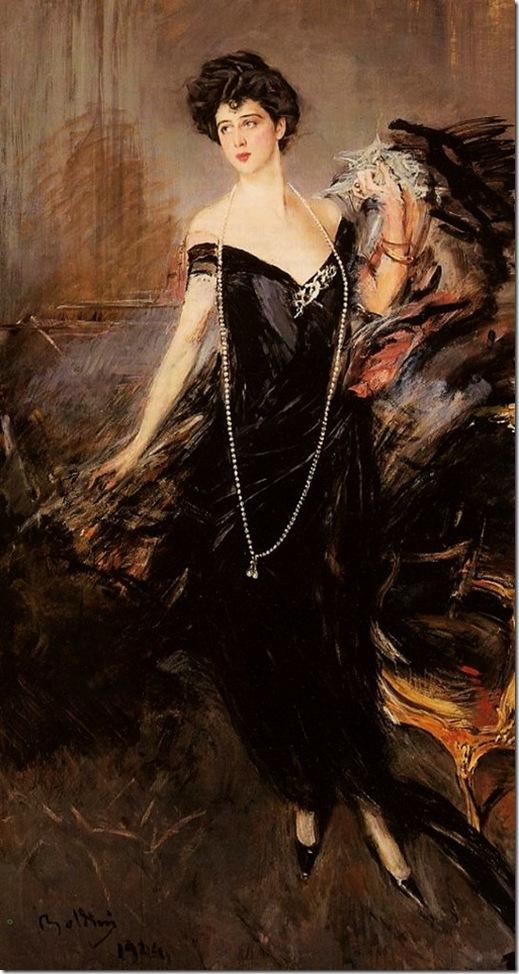 Boldini Giovanni Portrait of Donna Franca Florio 1924
