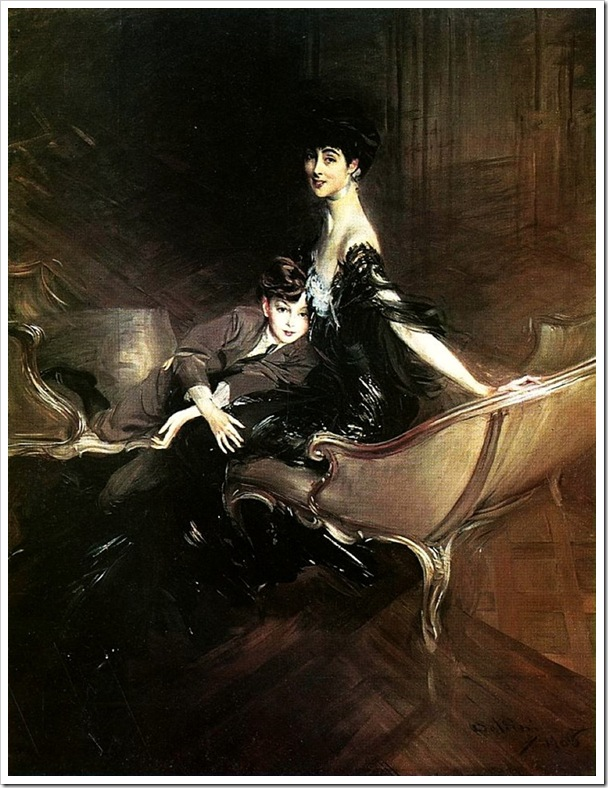 Boldini, Giovanni  Consuelo Duchess of Marlborough with Her Son Ivor Spencer Churchill 1906