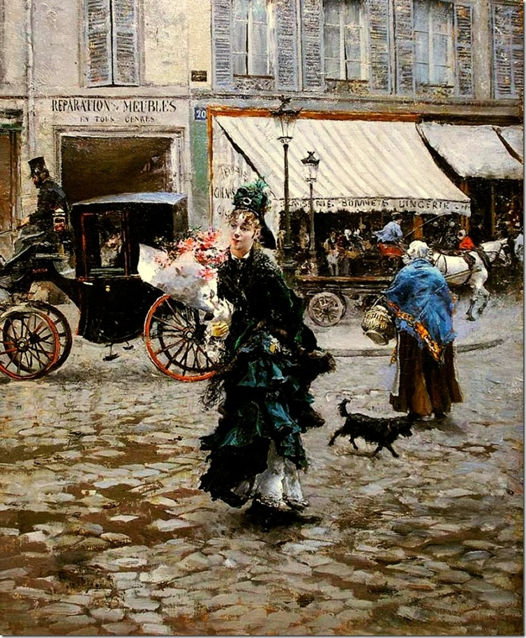 Boldini, Giovanni  Crossing the Street 1875