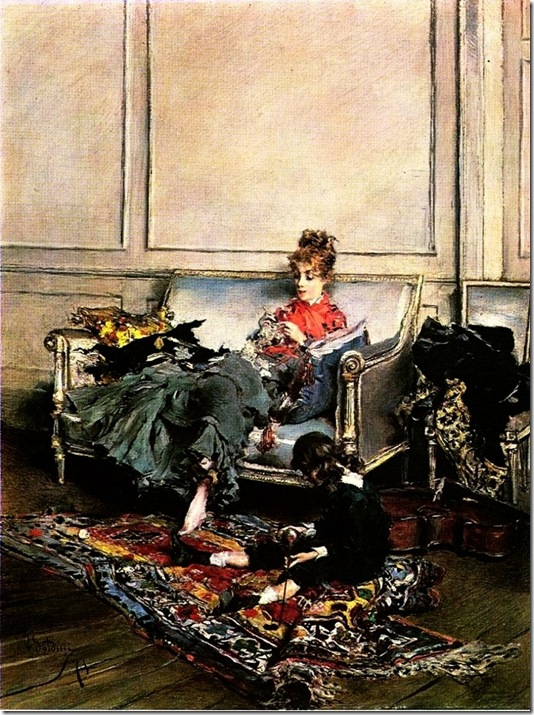 Boldini Giovanni Peaceful Days aka The Music Lesson