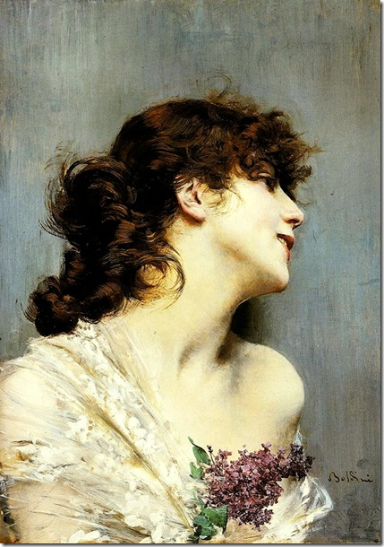 Boldini Giovanni Profile Of A Young Woman