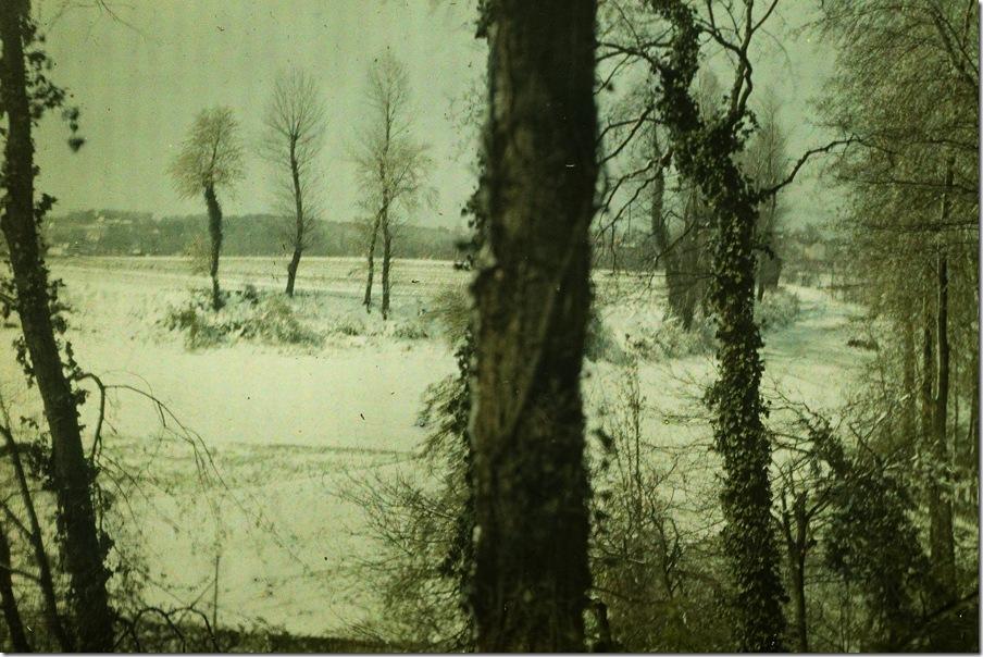 Léon Herlant, Landscape in snow - c.1910, autochrome 9 x 12