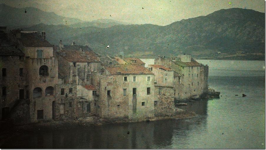 Léon Herlant, Bay of St.Florent-Corsica - c.1910, autochrome 9 x 12