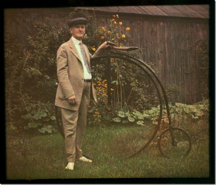 Charles Zoller with bicycle