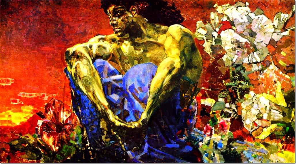 Михаил Врубель.Демон сидящий. 1890