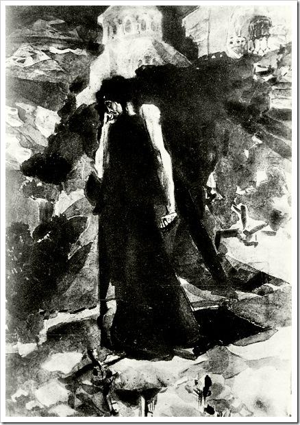 Демон у стен монастыря