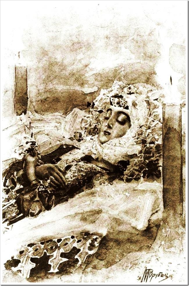 Михаил Врубель. Тамара в гробу.