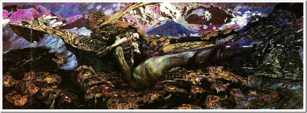 Врубель. Демон поверженный. 1902