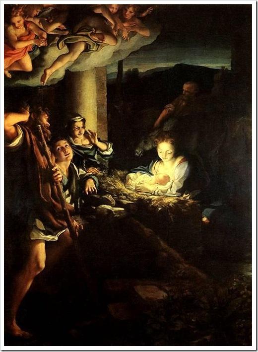 корреджо.рождество христово