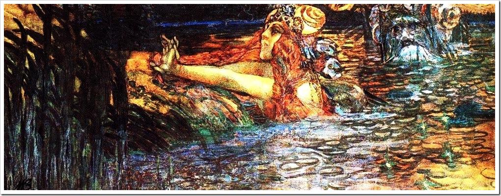 Врубель. Прощание царя морского с царевной Волховой. 1899