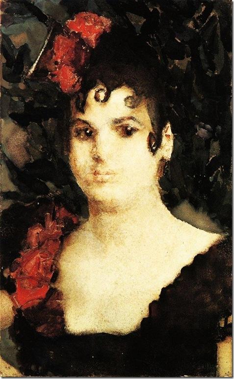 Михаил Врубель. Портрет Т.С. Любатович в роли Кармен. 1890-е