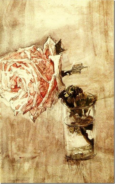 Михаил Врубель. Роза в стакане. 1904