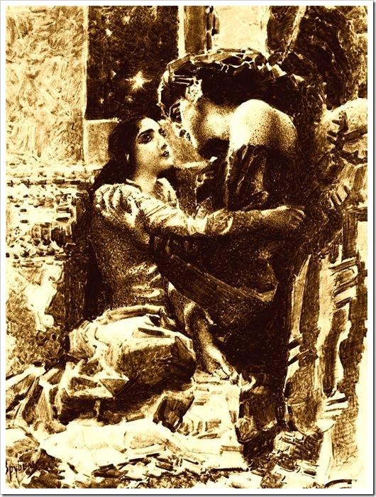 Врубель. Тамара и Демон. 1890-91