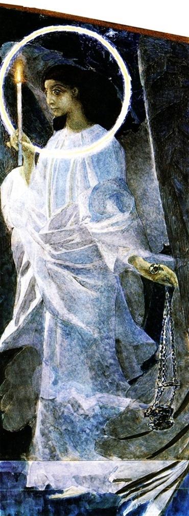 Михаил Врубель. Ангел с кадилом и свечой. 1887