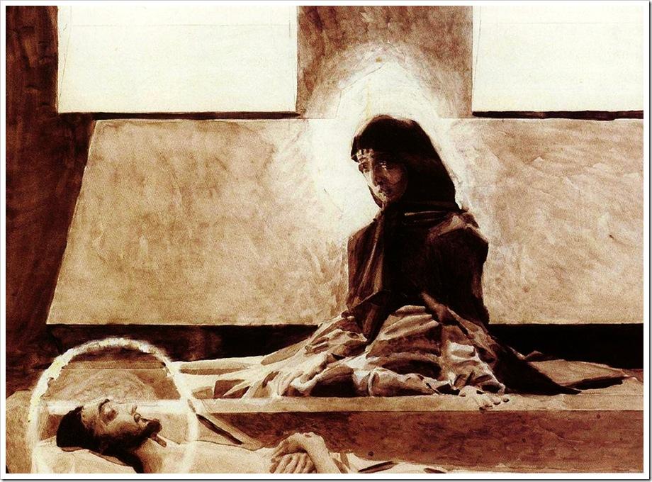 Врубель.Надгробный плач. 1887