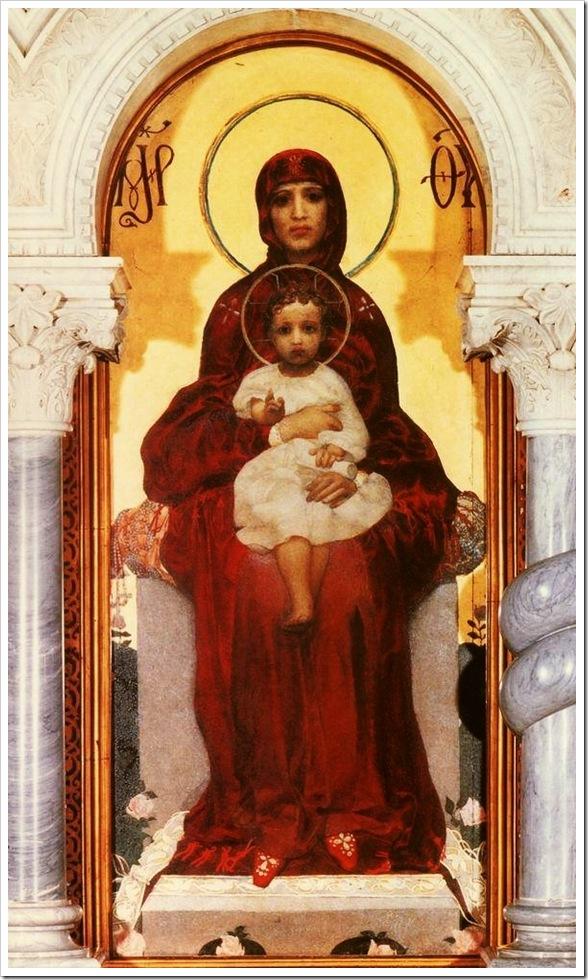 Михаил Врубель. Богоматерь с Младенцем. 1885