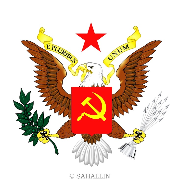 The new arms of the United Socialist States of America - USSA,sahallin