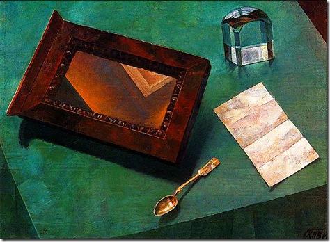 натюрморт с зеркалом 1919 год