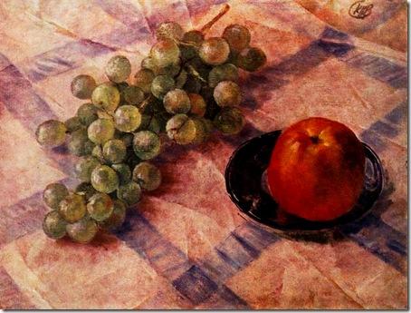 виноград и яблоко 1921 год