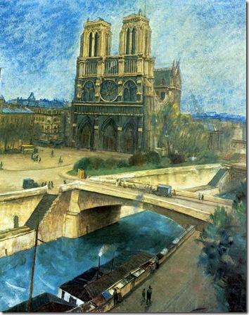 Париж.Нотр-Дам 1924 год