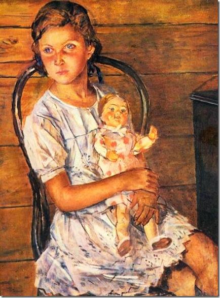 девочка с куклой 1937 год