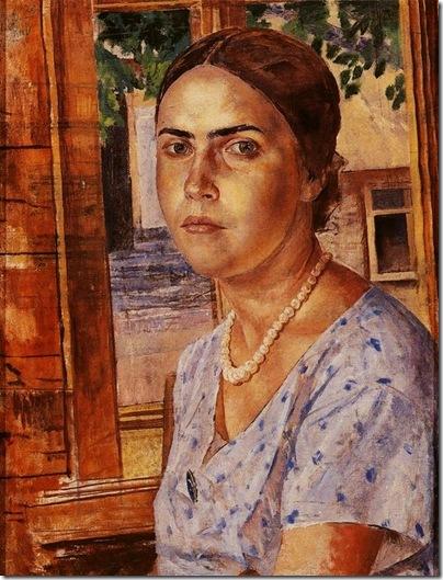 девушка у окна 1928 год