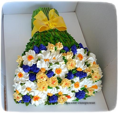 Торты букеты цветов фото