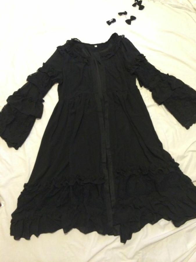 black overdress