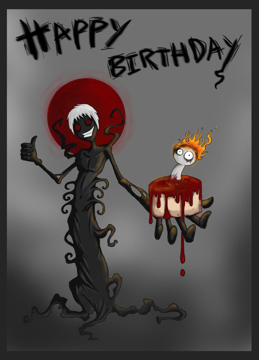 Мрачное поздравление с днём рождения