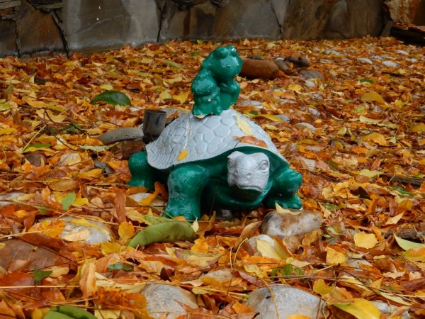 Фонтан листьев